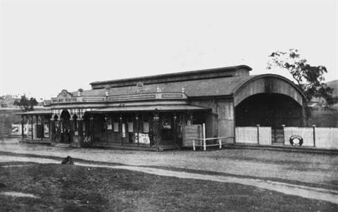 Mount Morgan Railway Station 1903 Black and White