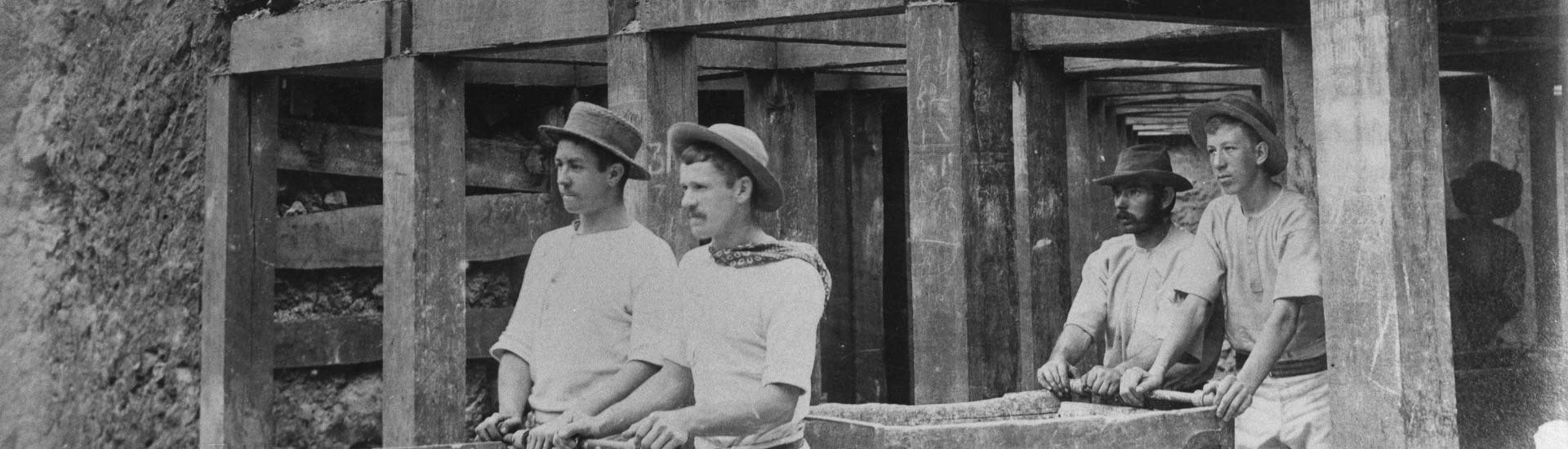 Miners at Mount Morgan mine ca. 1890, Image: John Oxley Library, State Library of Queensland